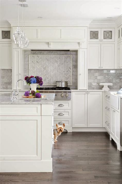 marble tile in kitchen 53 best white kitchen designs decoholic 7373