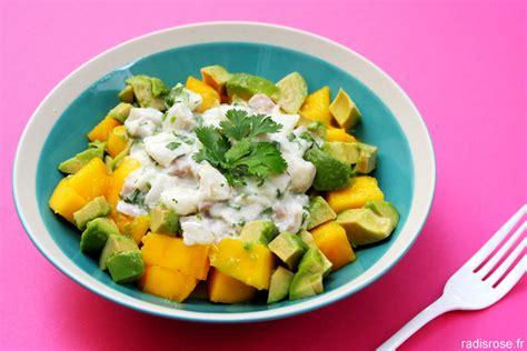 cuisiner coco plat tartare de cabillaud mangue avocat sauce lait de coco