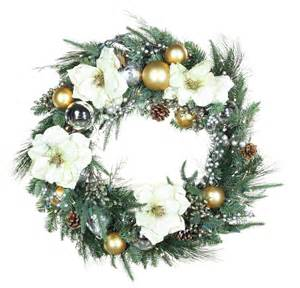 decorative wreaths aspen silver battery operated led wreath warm white lights
