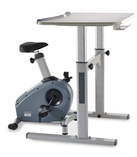 lifespan unity bike desk bike desks work out at work includes 1 free accessory