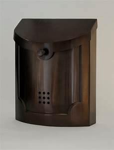 Ecco Mailboxes | Modern Steel Wall Mount Bronze Mailbox ...