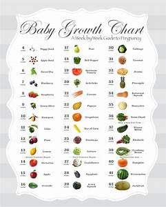 Baby Fruit Growth Chart Pin On Baby Size Charts And Timelines