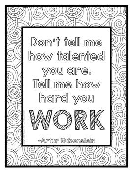 growth mindset coloring posters   coloring pages  melody payne
