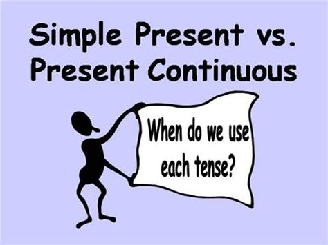 Simple Present Vs Present Continuous Authorstream