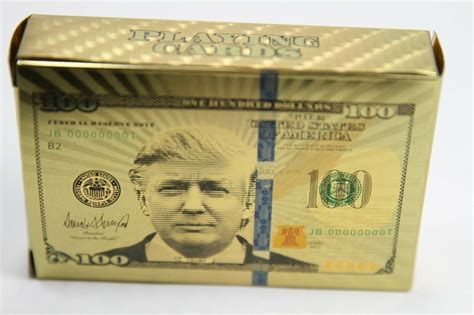 Yahoo finance is tracking the performance of the economy under president donald trump, compared with six prior presidents going back to jimmy carter. DONALD TRUMP Gold Plated Playing Cards   Best Of As Seen On TV