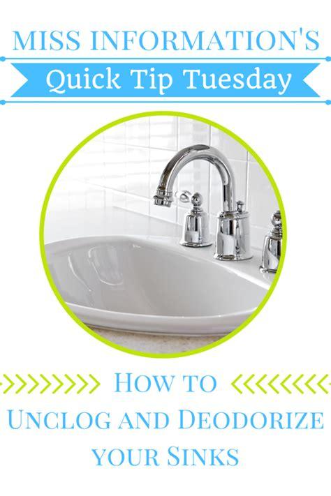Deodorize Bathroom Sink Drain by Easy Way To Unclog Your Sink Try It Sink Bathroom