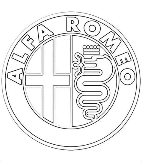 dibujos  colorear logotipo alfa romeo imprimible