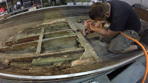 Bass Boat Floor Repair by Cajun Bass Boat Floor Removal Rebuild Part 2