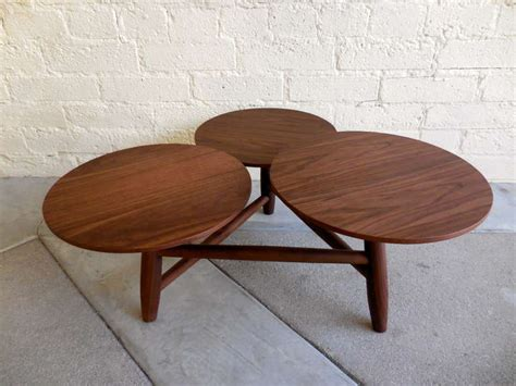 multi level coffee table an engaging walnut coffee table with multi level pod