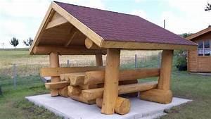 Gartenmöbel Mit Dach : blockstammholz sitzgruppe mit dach in heidenrod ~ Articles-book.com Haus und Dekorationen