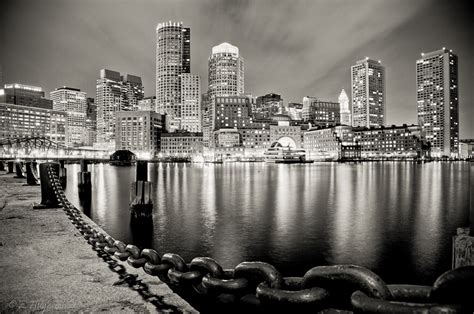 Photo Of The Moment Boston Harbor At Night Massachusetts