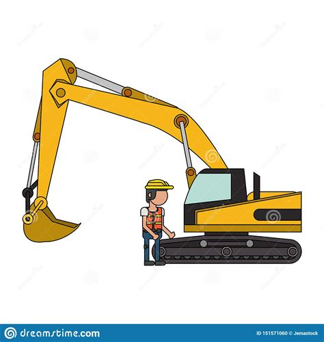construction worker  vehicle faceless stock vector