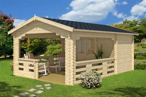 gartenhaus mit überdachter terrasse gartenhaus mit veranda vera 19 m 178 40mm 4x6 hansagarten24