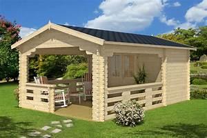 Gartenhaus Mit Terrasse : gartenhaus mit veranda vera 19 m 40mm 4x6 hansagarten24 ~ Whattoseeinmadrid.com Haus und Dekorationen