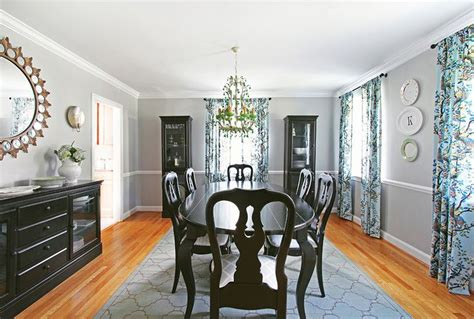 black painted queen anne dining room table ranch