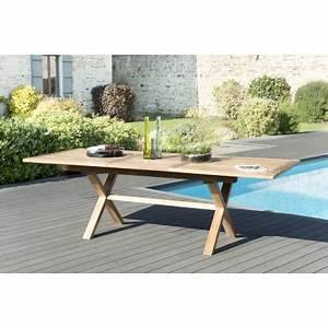 Table Pied Croisé : table rectangulaire pieds crois s extensible 180 240x100cm ~ Teatrodelosmanantiales.com Idées de Décoration