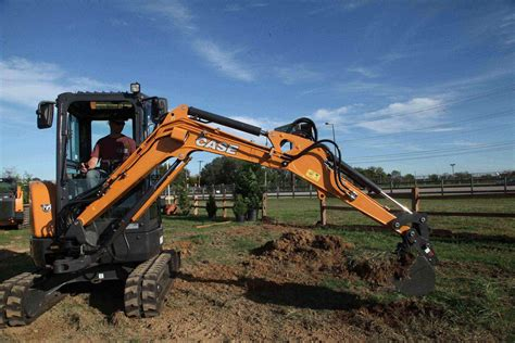 case construction equipment debuts cxc compact excavator