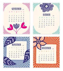 September 2017 to December 2017 Calendar