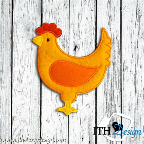 Free Embroidery Applique by Free Chicken Or Hen Applique Embroidery Design Free