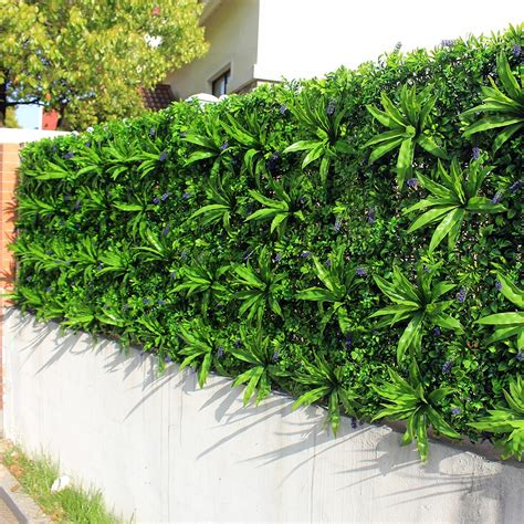 How To Build A Vertical Wall Garden by Outdoor Artificial Plant Walls Leaves Fence 1x1m Uv Proof