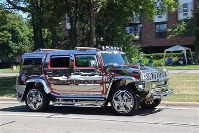 Chrome H2 Cruise Woodward Dream Hummer Cars