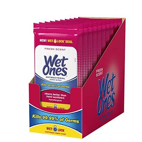 Wet Ones Antibacterial Hand Wipes, 20 Count (Pack Of 10