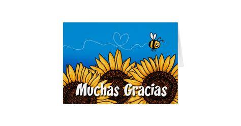 muchas gracias spanish   card card zazzlecom