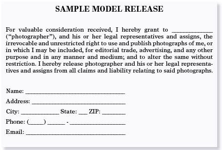 Standard Model Release Form Template by Model Releases