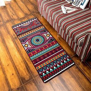Fashion, Simple, Retro, National, Style, Geometric, Pattern, Kitchen, Runner, Rug, Non, Slip, Breathable