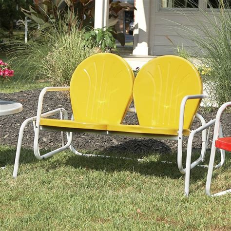 vintage metal chairs outdoor retro metal glider lawn