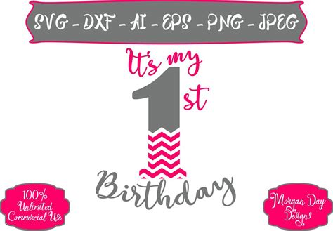 Thanks for all the cute templates! 1st Birthday Png Text - 1st Birthday Ideas
