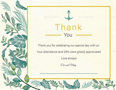 thank you card template indesign nautical thank you card template in psd word publisher