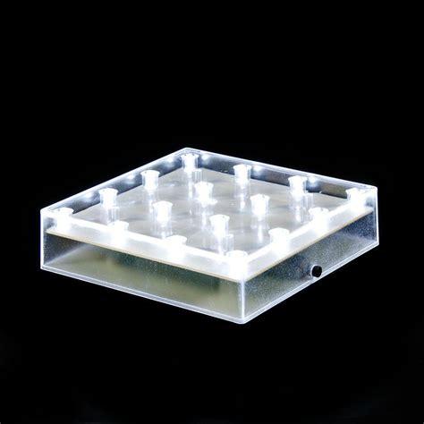 5 quot square 16 led lights centerpiece light base