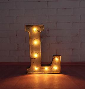 9quot metal letters light led marquee sign light up rustic With metal wall letters with lights
