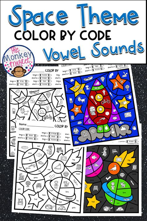 color  code vowel sounds space  images vowel