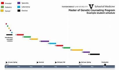 Timeline Master Counseling Genetic Practicum Vanderbilt Rotations