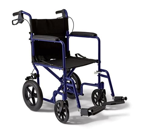 Medline Transport Chair by Medline Transport Wheelchair With Brakes Blue
