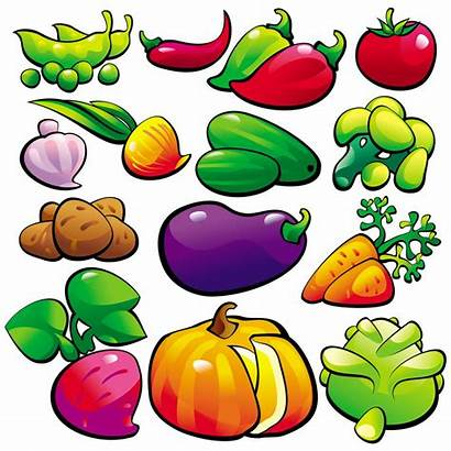 Vegetables Animated Clipart Cliparts Fruits Illustration Coloring
