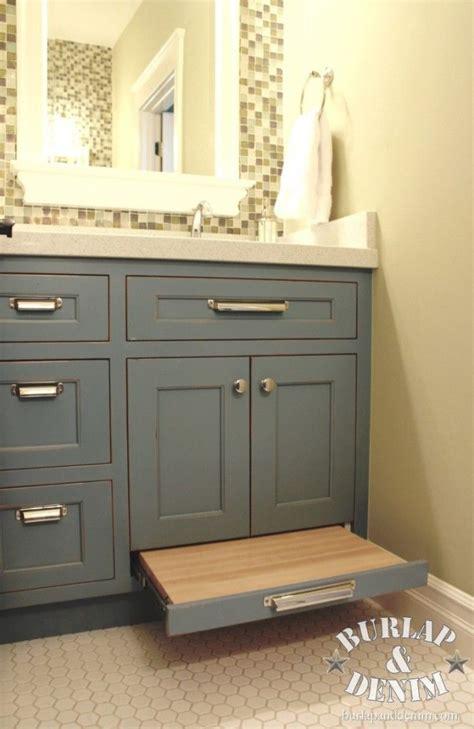 Bathroom Vanity With Step Stool Bathroom Vanity Storage And Pull Out Drawer Stool J N