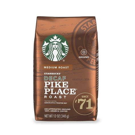 Redcard exclusive + 1 offer. Starbucks Decaf Ground Coffee — Pike Place Roast (12 oz) from Andronico's Community Markets ...