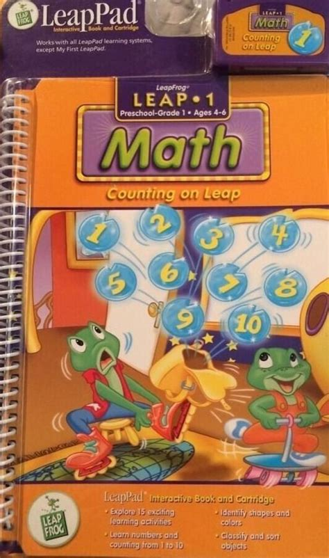 leapfrog leappad 1 preschool 1st age 4 math counting on 354 | s l1000