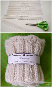 knitted scallop edged boot toppers free printable gift With handmade labels for knitting