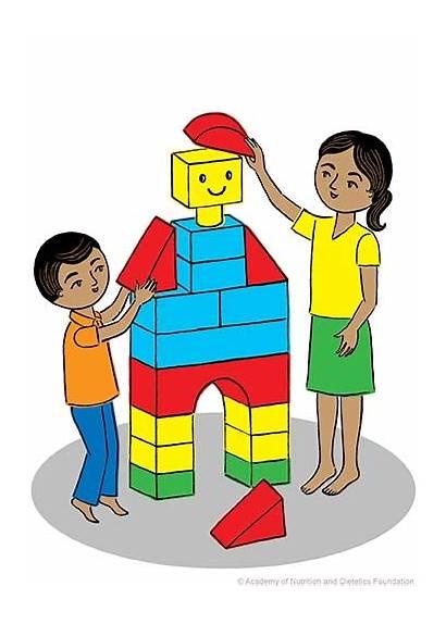 Blocks Nutrition Building Basic Explain Concepts Child