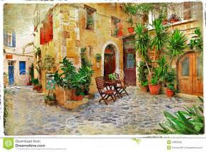 home building plans and prices streets of greece crete stock photography image
