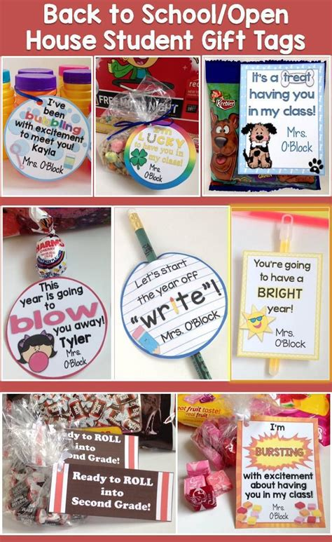 list of gifts to school children back to school open house meet the student gift ideas gift tags teaching student