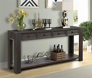 Entryway, Table, With, 4, Storage, Drawers, 64, U0026quot, U00d715, U0026quot, U00d730, U0026quot, Wood, Console, Tables, Farmhouse, Narrow, Console