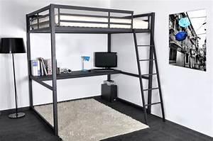 lit mezzanine 140 avec bureau alto literies coreme With chambre bébé design avec fleuriste livraison domicile