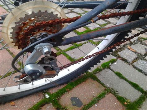 chain bike rusty file commons wikimedia
