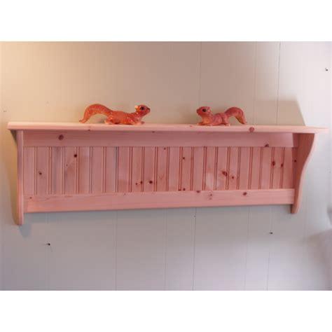 unfinished wood wall shelf
