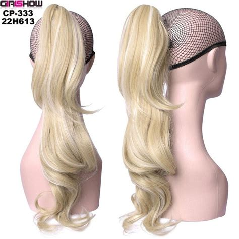 Grilshow 24 60cm Long Wavy Curl Ponytail Layered Claw
